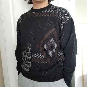 Vintage Cooper Monsieur Geometric Acrylic Sweater